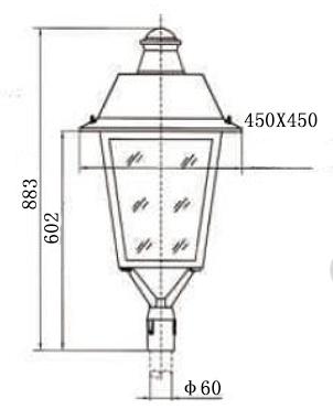 Luz de jardín LED de 100W (linterna)